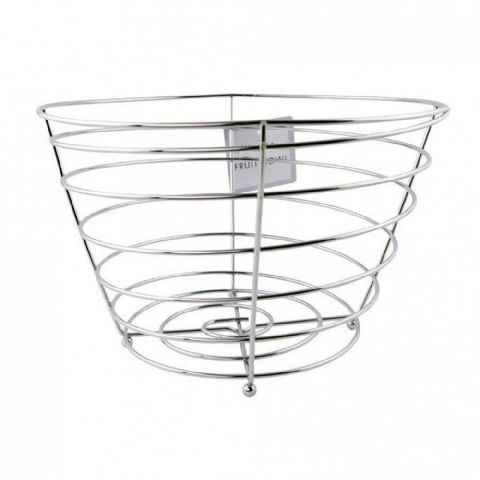 Straight Sided Chrome Fruit Bowl Basket